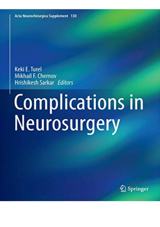 PDF Complications in Neurosurgery (Acta Neurochirurgica Supplement if you want to download or read Complications in Neuros...