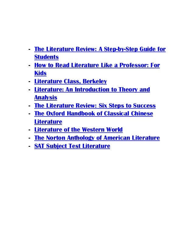 Classroom Design Literature Review ~ The literature review a step by guide for students