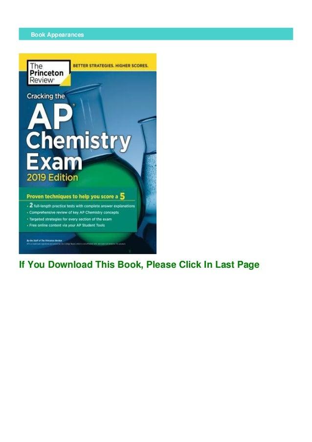 (PDF) Cracking the AP Chemistry Exam, 2019 Edition ...