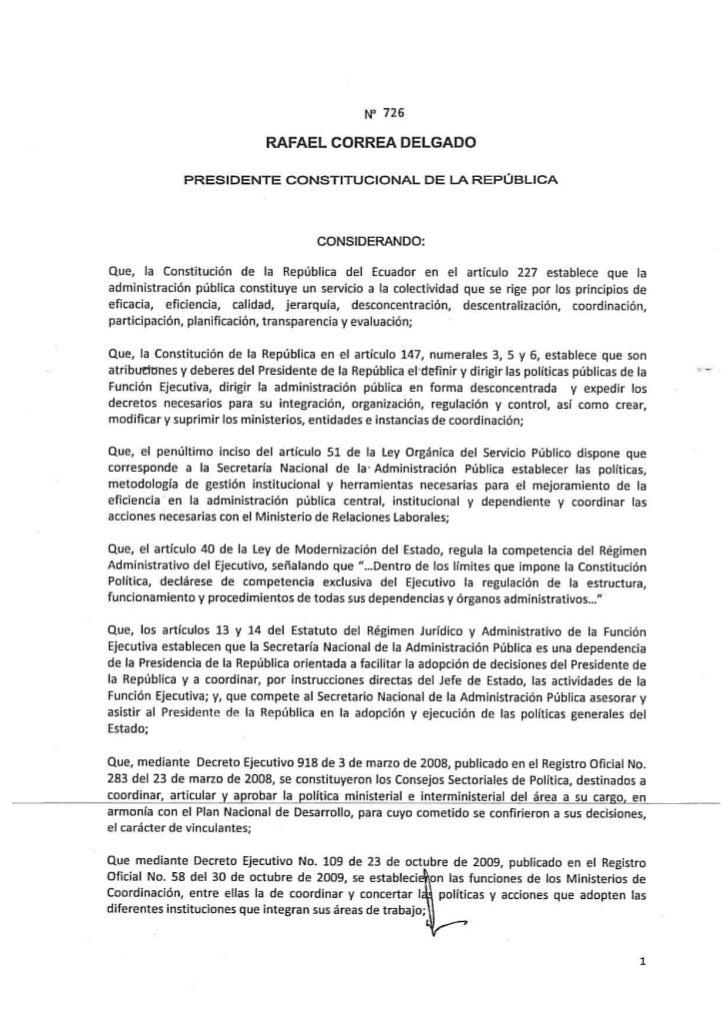 P D F  D E C R E T O 726 11  A B R 2011 OrganizacióNdelejecutivo