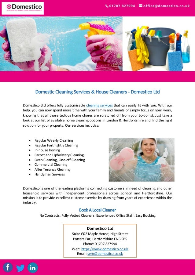 Domestic Cleaning Services & House Cleaners - Domestico Ltd