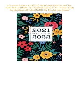 Ou Calendar 2022.Pdf Download 2021 2022 Pocket Calendar Floral Cover Two Year Calenda