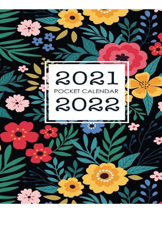 2022 Calendar Cover.Pdf Download 2021 2022 Pocket Calendar Floral Cover Two Year Calenda