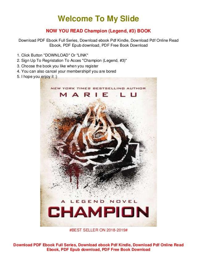 Pdf Download Champion Legend 3 Read Online
