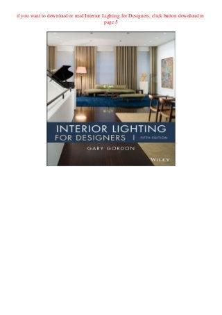 Pdf Download Interior Lighting For Designers Full