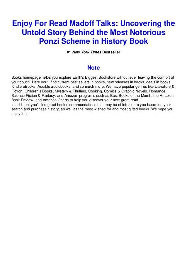 Madoff talks pdf free. download full