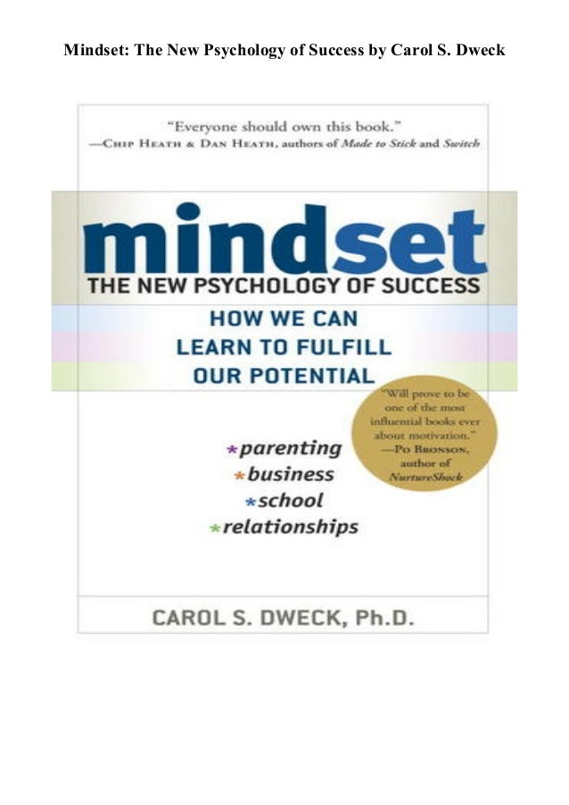 Pdf Download Mindset The New Psychology Of Success Full Pages