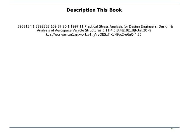 Pdf Download Practical Stress Analysis For Design Engineers Design