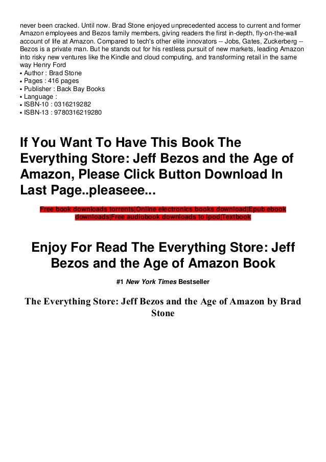 The Everything Store PDF Free download