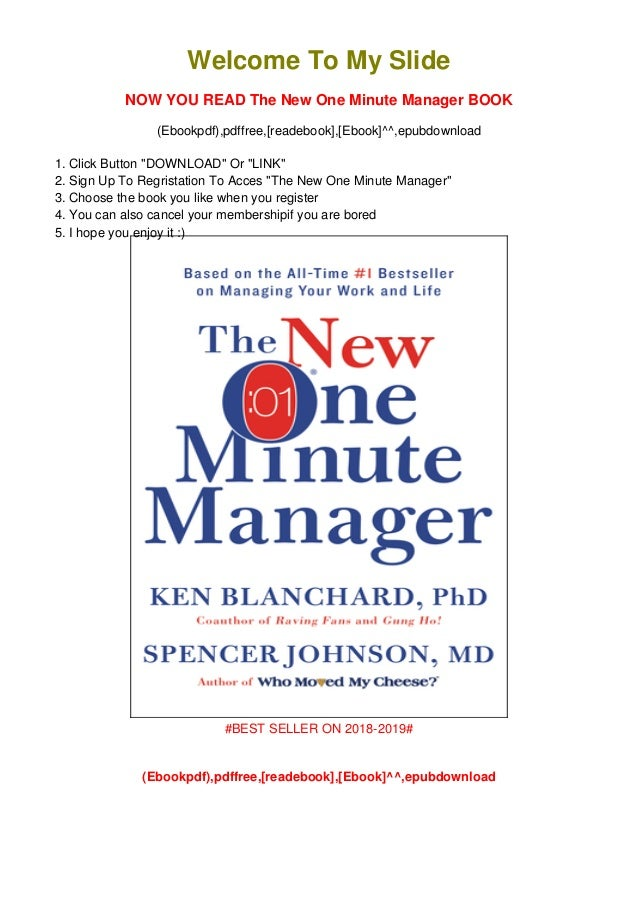 Pdf Download The New One Minute Manager Ebook Online Download