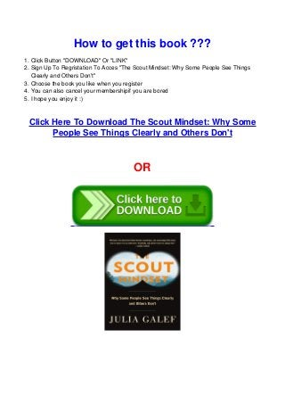 The Scout Mindset PDF Free Download