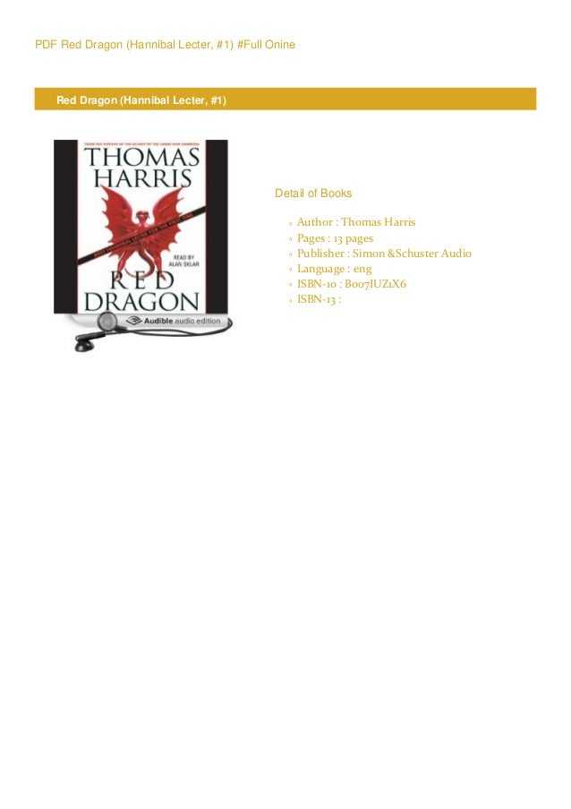 Download Red Dragon Hannibal Lecter 1 By Thomas Harris