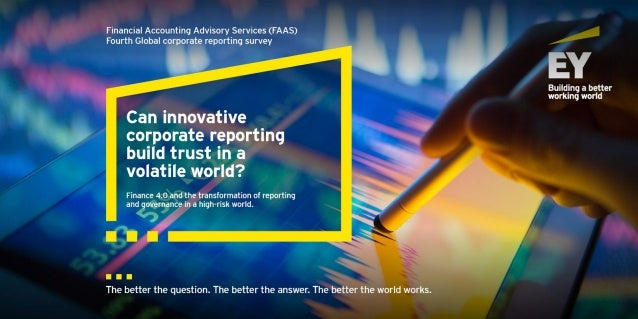 Can innovative corporate reporting build trust in a volatile world?