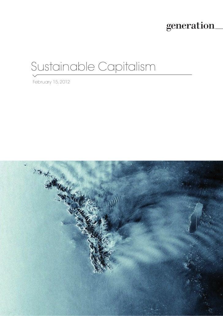 Sustainable CapitalismFebruary 15, 2012