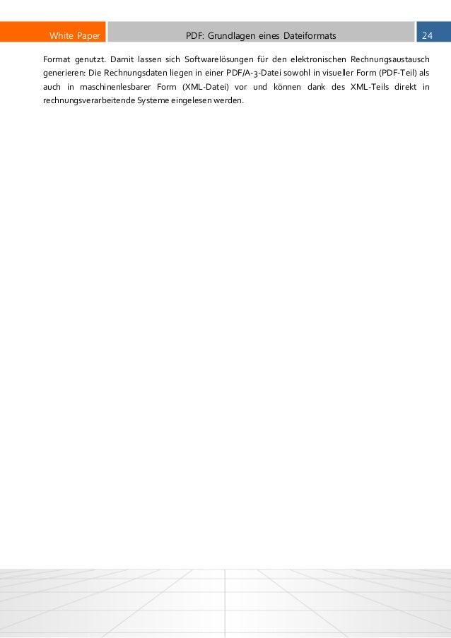 PDF-Format und PDF-Grundlagen