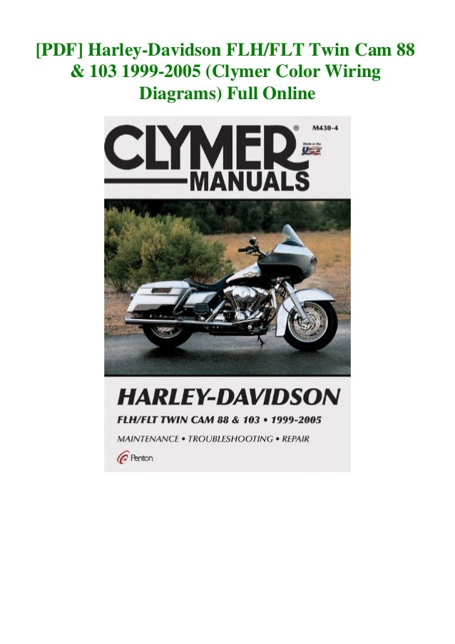 pdf harleydavidson flhflt twin cam 88  103 19992005