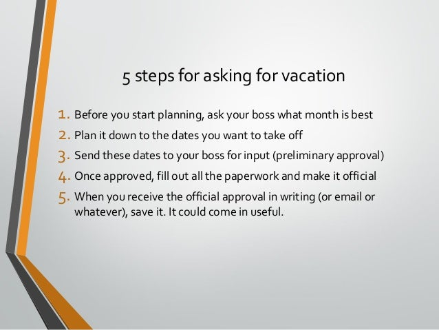How to Request Vacation Time