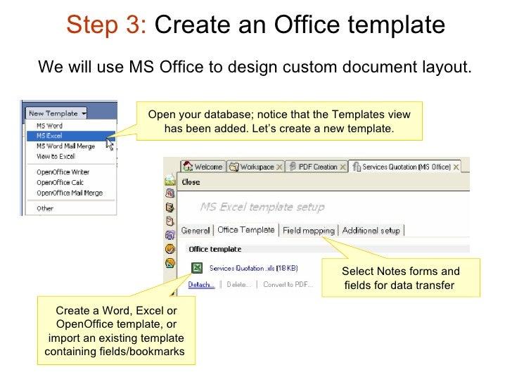lotus notes database templates - pdf in lotus notes applications