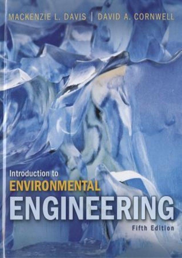 PDF Introduction to Environmental Engineering by Mackenzie L. Davis P…