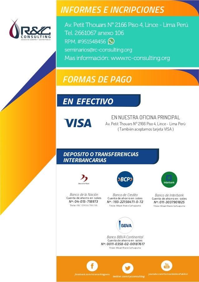 Curso siaf b sico for Banco continental oficina principal