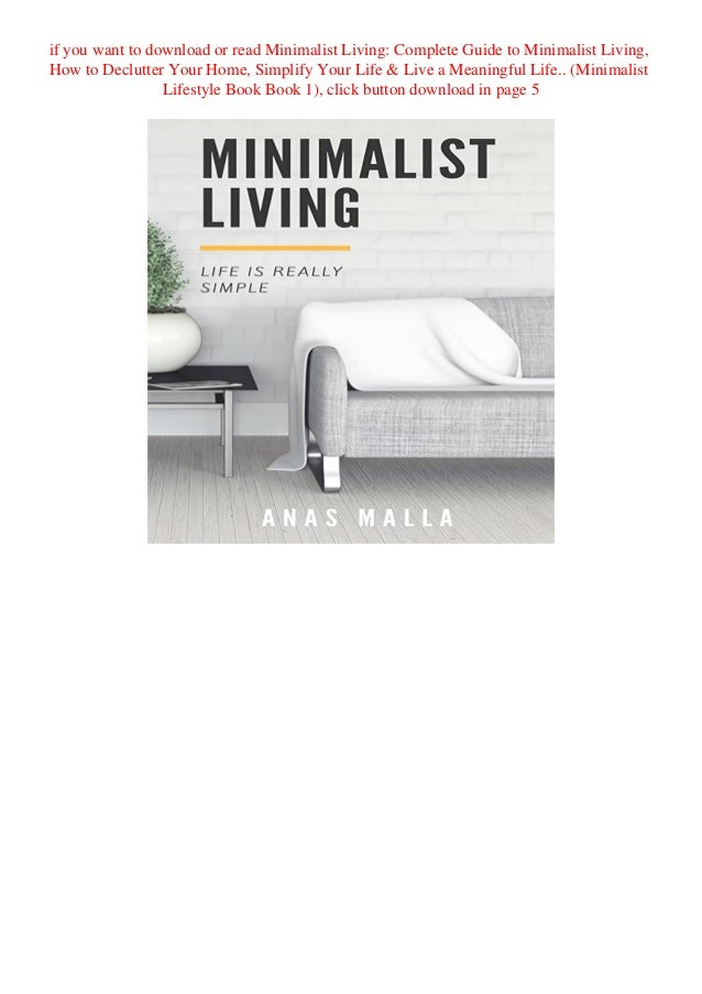 Frugal Living Guide For The Minimalism Lifestyle PDF Free Download
