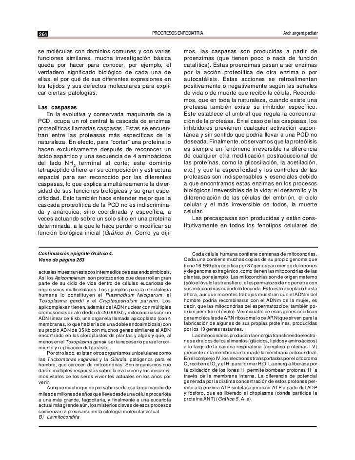 c0370061074 264 PROGRESOS EN PEDIATRIA Arch.argent.pediatrse moléculas con dominios  comunes y con varias mos, las caspasas son producidas a partir defunciones  similares ...