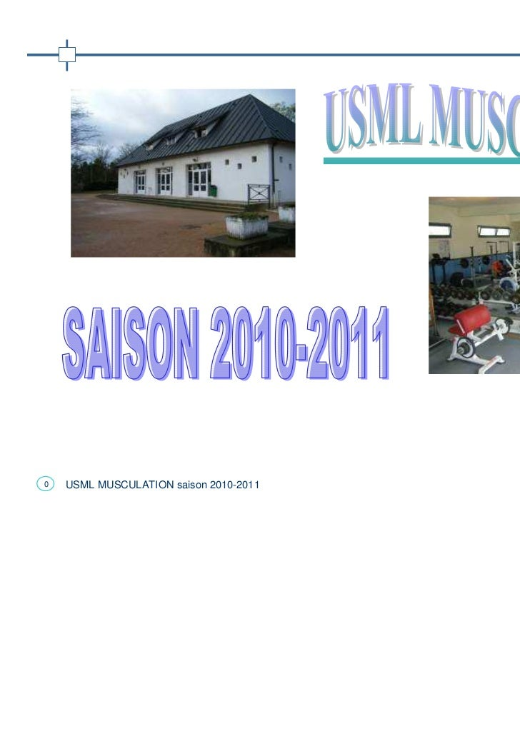 0   USML MUSCULATION saison 2010-2011