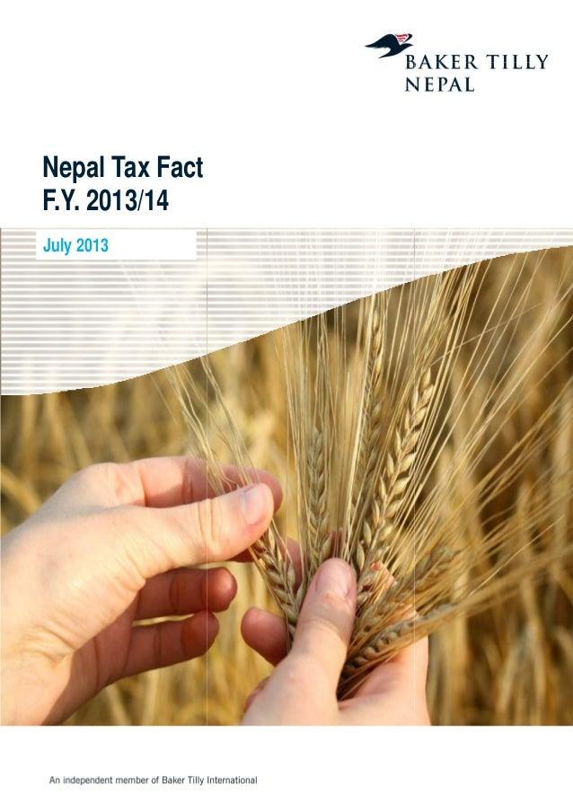 Nepal Tax Fact F.Y. 2013/14 July 2013 Nepal Tax Fact