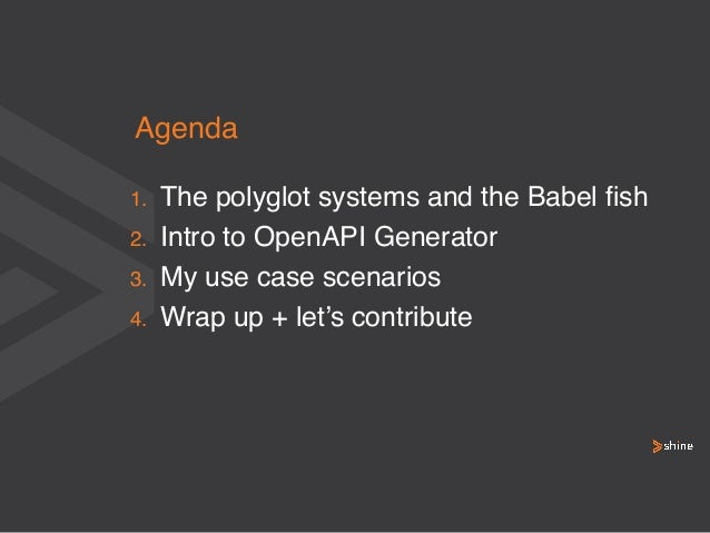 apidays LIVE Australia 2021 - OpenAPI Generator - The Babel Fish of the API World by Cliffano Subagio, Shine Solutions Slide 3