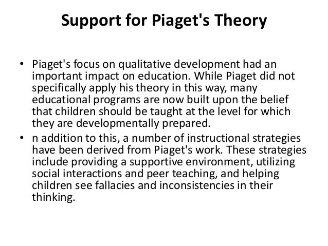 opinions on piaget cognitive development theory Theory jean piaget began his career as a biologist -- specifically, a malacologist so he developed the idea of stages of cognitive development.