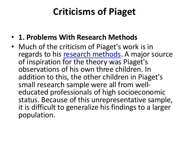 "observations on piagets theory Application to your classroom piaget's theory of cognitive development has already been used to enhance classrooms and the learning that takes place for example, the notion of ""discovery learning"" stemmed from piaget's theory wherein children learn best through learning that allows active exploration."