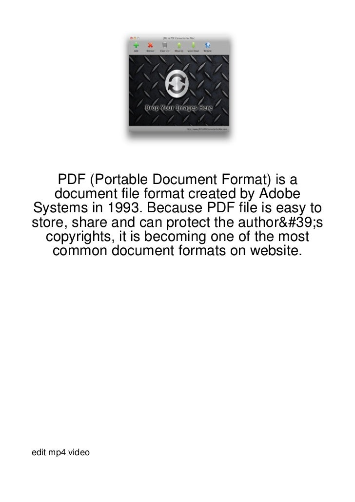 PDF (Portable Document Format) is a    document file format created by AdobeSystems in 1993. Because PDF file is easy tost...