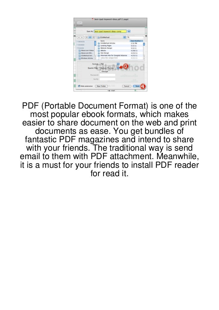 PDF (Portable Document Format) is one of the    most popular ebook formats, which makes easier to share document on the we...