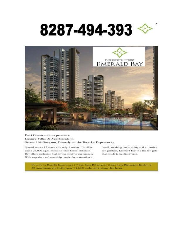 SALE,8287-494-393-Puri Emerald Bay Gurgaon sale 2 BHK+SERVANT