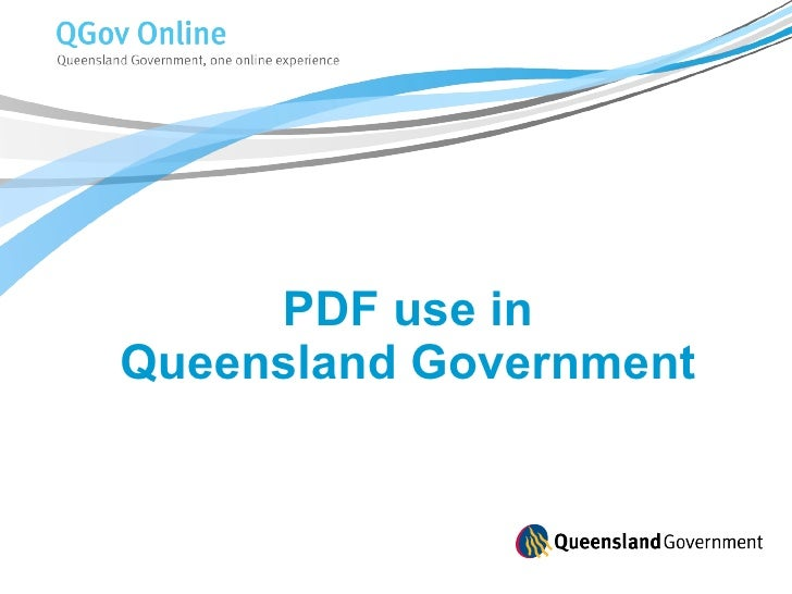 PDF use in  Queensland Government