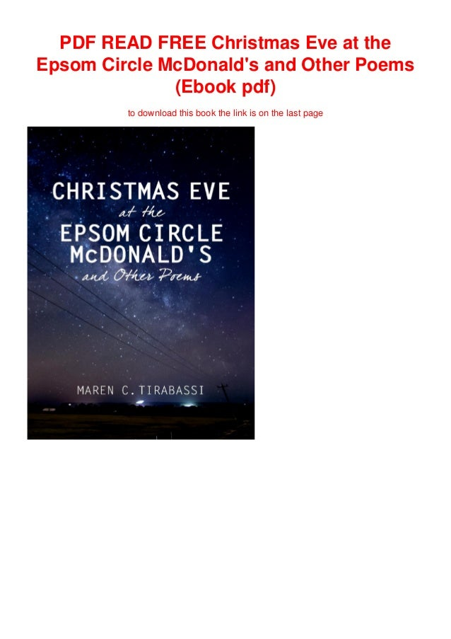 Pdf Read Free Christmas Eve At The Epsom Circle Mcdonald S And Other