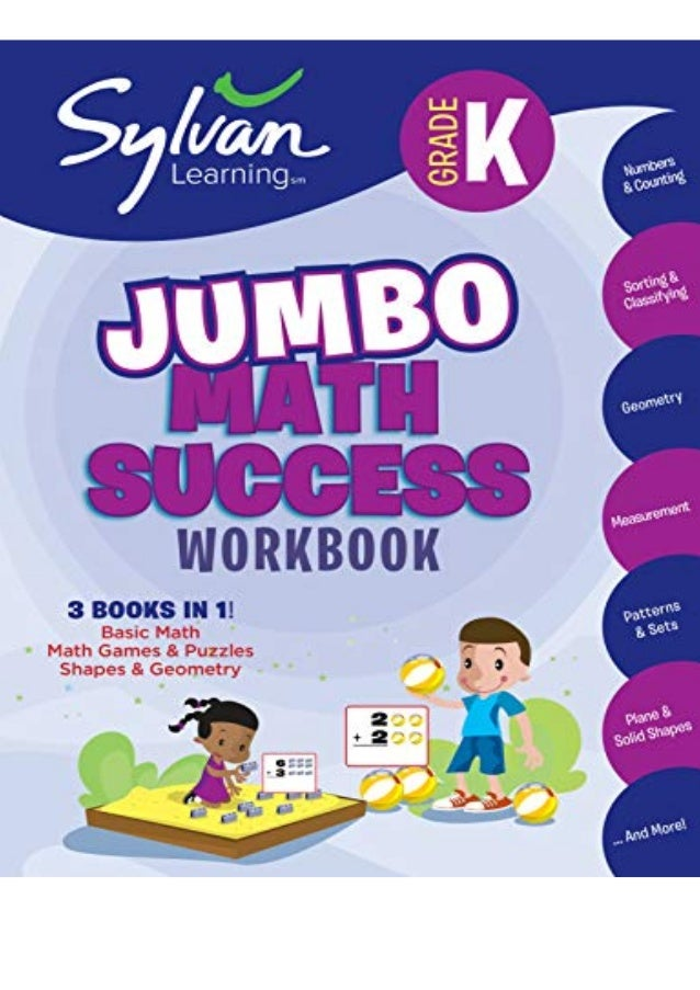 Pdf (read online) Kindergarten Jumbo Math Success Workbook: Activities, Exercises, and Tips to Help You Catch Up, Keep Up,...