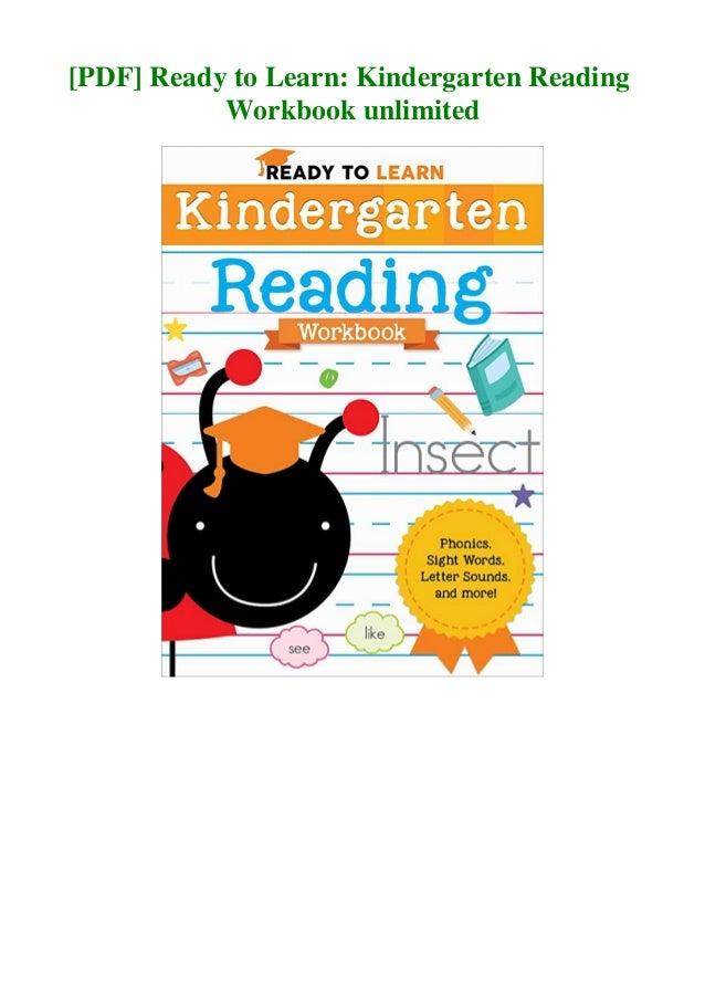 Pdf Ready To Learn Kindergarten Reading Workbook Unlimited