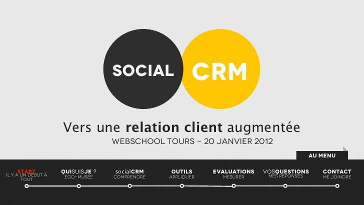 Social               CRM                    Vers une relation client augmentée                                  Webschool ...