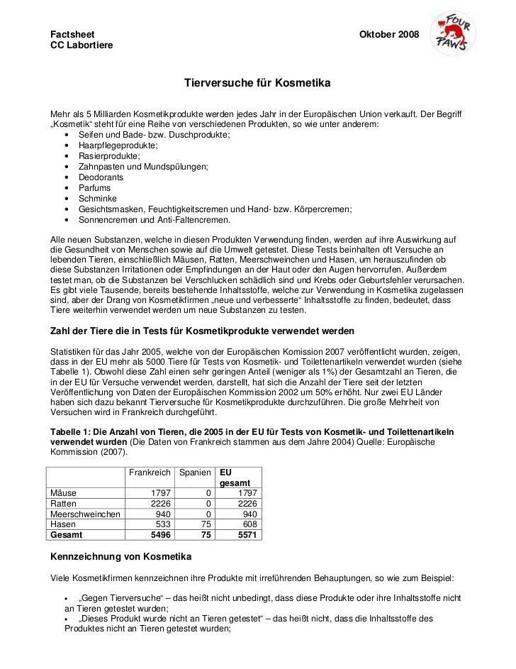 Factsheet                                                                     Oktober 2008CC Labortiere                   ...