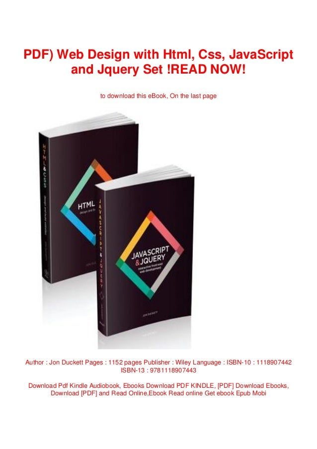 Pdf Web Design With Html Css Javascript And Jquery Set Read Now