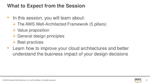 Well-Architected Bootcamp Slide 2