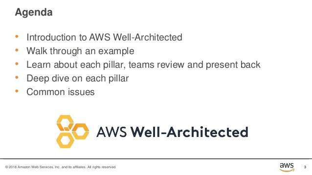 Well-Architected Bootcamp Slide 3