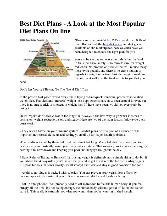 The Most Effective Diet Plan To Lose Weight Fast Does Such A Plan E