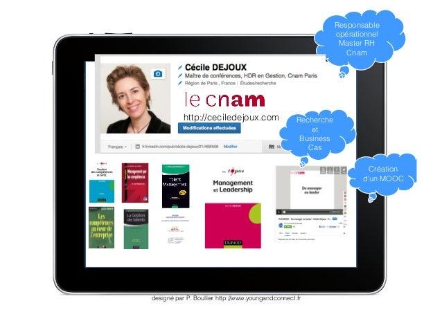 designé par P. Boullier http://www.youngandconnect.fr  Responsable  opérationnel  Master RH  Cnam  Création  d'un MOOC  Re...