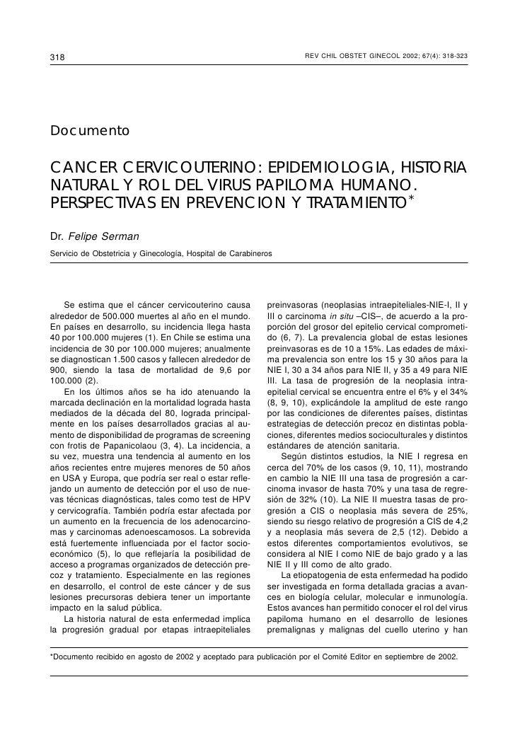 318                                                                  REV CHIL OBSTET OBSTET GINECOL 2002; 67(4)           ...
