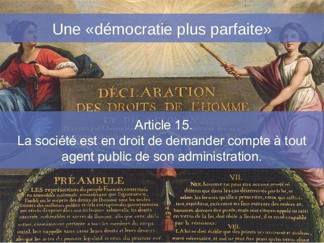 Article 15.La société est en droit de demander compte à toutagent public de son administration.frederic.mion@sciences-po.f...