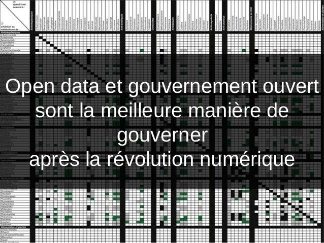 La meilleure manièrede gouverneraprès la révolution numériqueOpen data et gouvernement ouvertsont la meilleure manière deg...