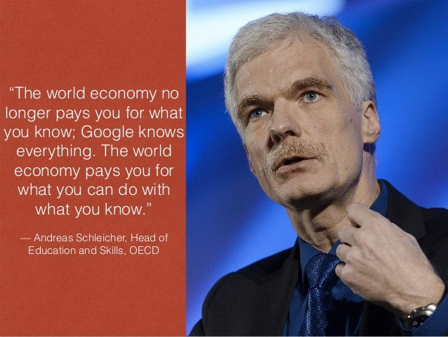 """""""The world economy no longer pays you for what you know; Google knows everything. The world economy pays you for what you ..."""