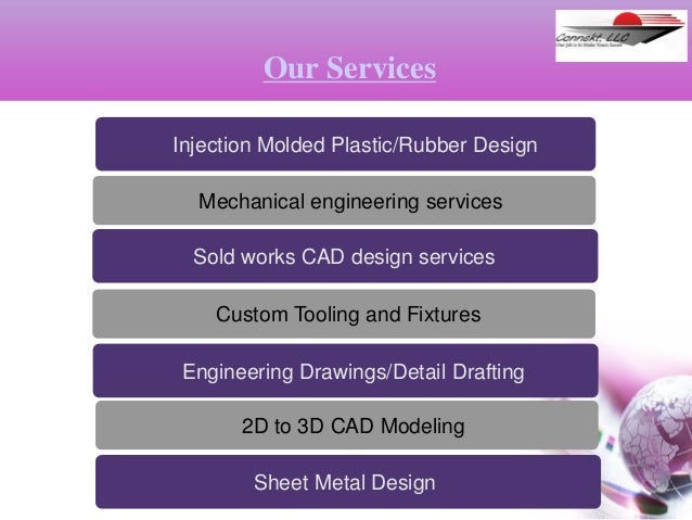 Injection Molded Plastic/Rubber Design Mechanical engineering services Our Services Sold works CAD design services Custom ...